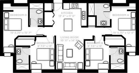 apartment layout design pricing and floor plans 187 northview 187 ucf
