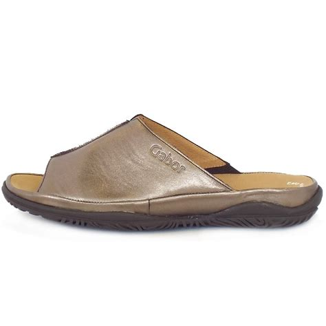 mule sandals for gabor sandals idol wide fit summer leather mules