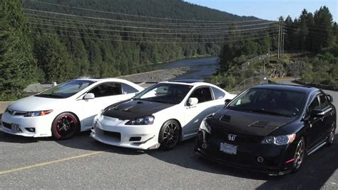 acura rsx vs civic si civic si rsx type s csx type s cruising at mission bc
