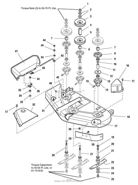 44 parts diagram simplicity 1694863 44 quot mower deck parts diagram for 44