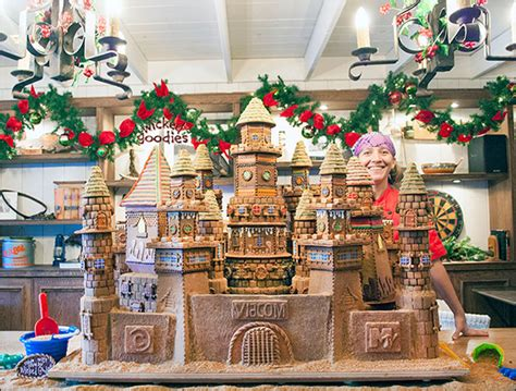 Home Decorating Business giant gingerbread castle