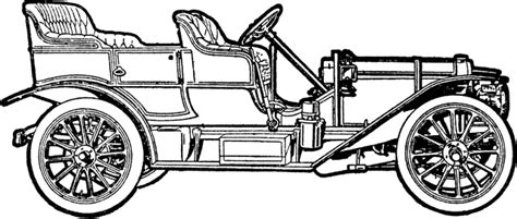 invention of the motor car automobile clipart etc