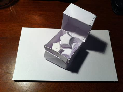 How To Make A Paper Ring Box - 30 ring box setting the crease