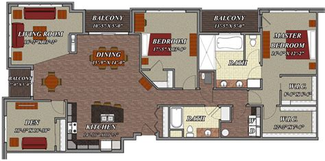 apartment floor plans two bedroom den two bath 2 bedroom 2 bathroom den style e2 lilly preserve apartments