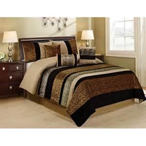 King Comforter Set Clearance 7 Piece Samber Fuax Fur Patchwork Clearance Bedding