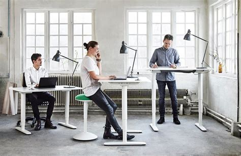 standing office desk ikea bekant standing desk by ikea ergonomic office furniture