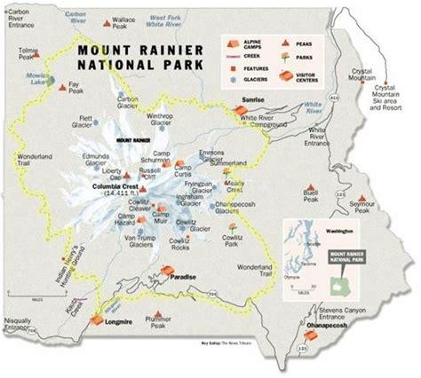 mt rainier national park map mt rainier national park trails map takes about a week