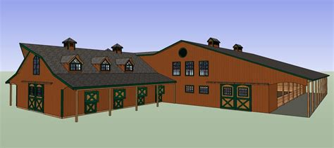 House Plans With Attached Apartment by Indoor Arena Barn Living Quarters Face Your Fears Live