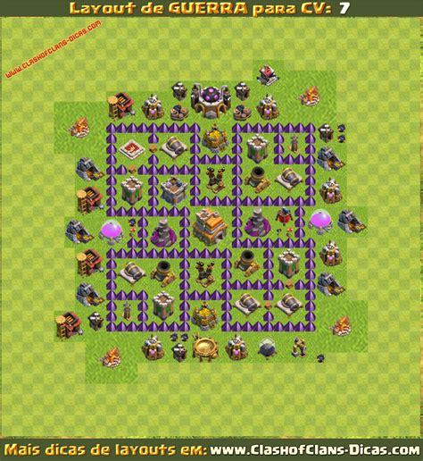 layout guerra cv 7 dispersor zoando n nave clash of clans layouts cv 7