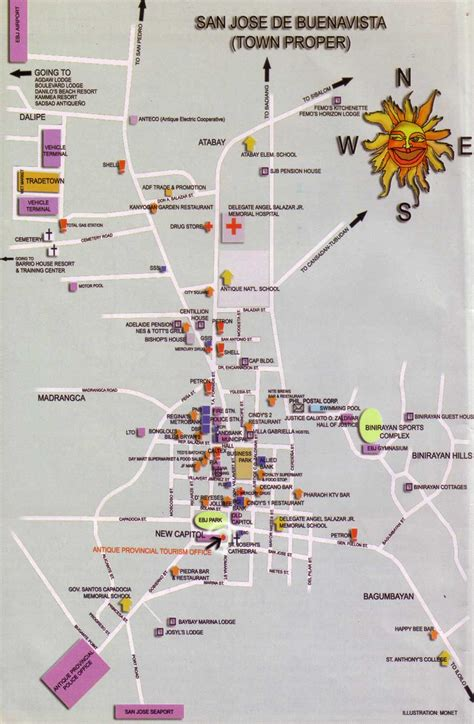 san jose tourist map san jose tourist map san jose phillipines mappery