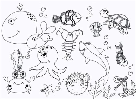 coloring page of under the sea free under the sea coloring pages to print for kids