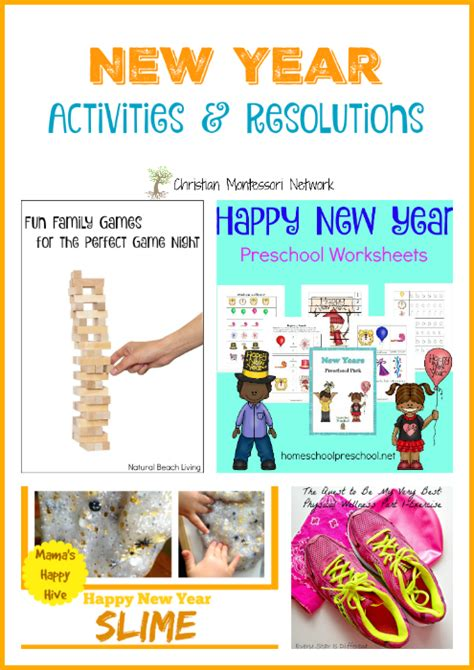 new year activities new year activities and resolutions learn play link up