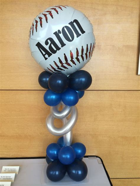 sports themed balloon decor baseball balloon decor balloons sports theme
