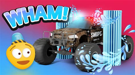 3d police monster truck police car wash 3d police monster truck cartoon for kids