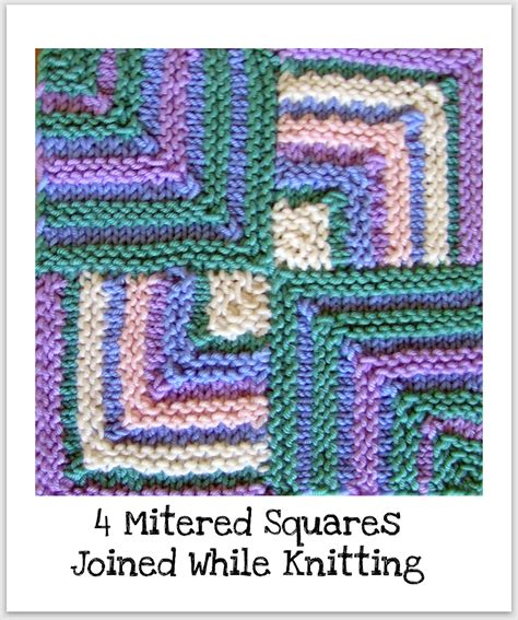 mitered corners books squares knitting basket