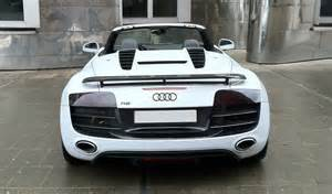 photo audi r8 convertible germany white race