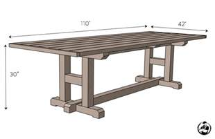 Patio Table Dimensions H Leg Dining Table 187 Rogue Engineer