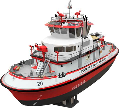 fire boat captain first look port of long beach s powerful new fireboat