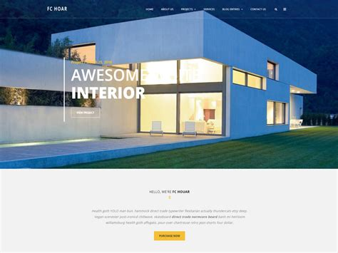 Architecture Website Templates Free Fc Hoar Free Architecture Website Template Freemium Download