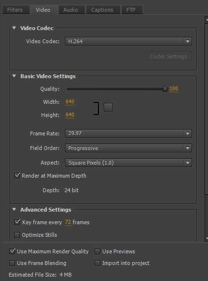 adobe premiere pro use maximum render quality creating high quality instagram videos using adobe