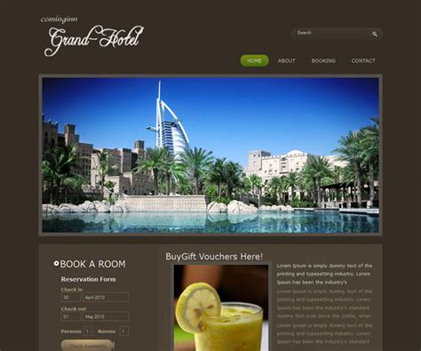 templates for resort website 12 free hotel html website templates templatemag