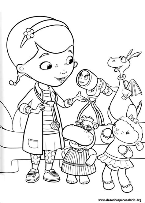 Dr Mcstuffin Coloring Pages free doc mcstuffins coloring pages