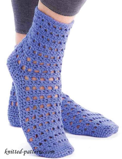pattern socks free crochet lace socks pattern free