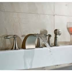 5 bathtub faucet brushed nickel waterfall romen tub faucets with hand shower