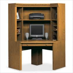 Small Computer Desk With Hutch Sauder Orchard Small Corner Wood Hutch Oak Computer Desk Ebay