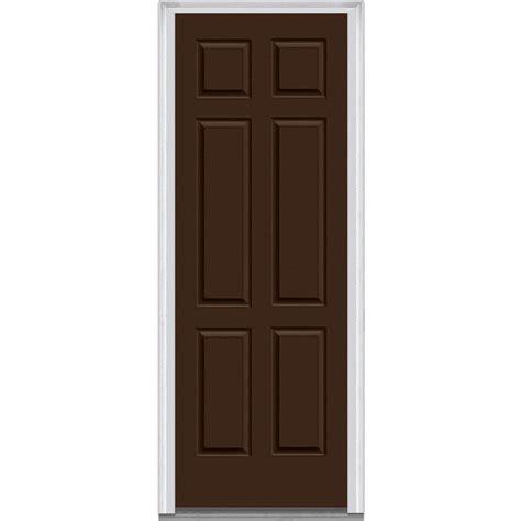 Exterior Steel Doors Milliken Millwork 33 5 In X 87 75 In 6 Panel Painted