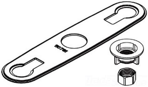 moen 115062 two handle kitchen deck gasket chrome