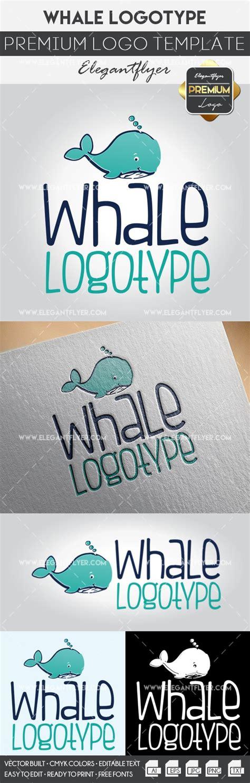 whale premium logo template by elegantflyer