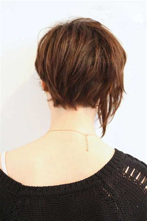pictures of back of hair short bobs with bangs 15 best back view of bob haircuts short hairstyles 2016