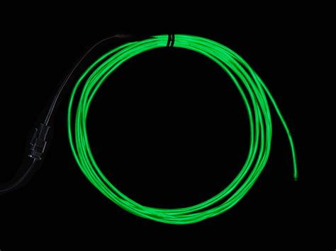l wire high brightness green electroluminescent el wire 2 5