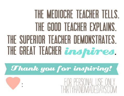 printable thank you quotes printable teacher appreciation quotes quotesgram