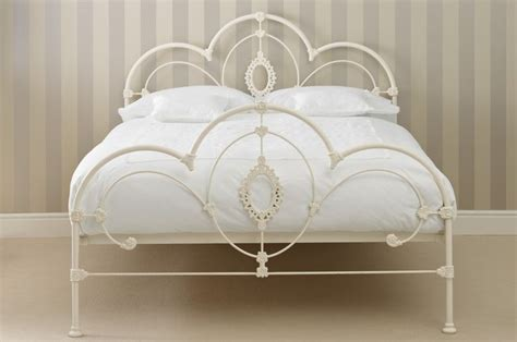 laura ashley headboards quot somerset quot metal bed frame in ivory with curved scrolls