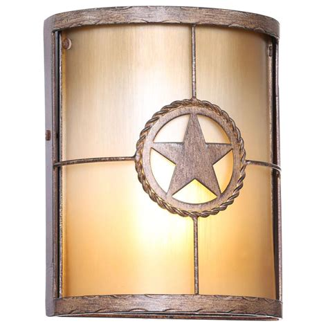 lone star home decor hton bay lone star 1 light desert sands outdoor wall mount sconce 17208 the home depot