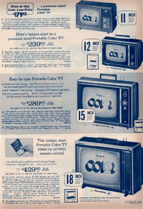 when did color tv come out it came from the 1971 sears catalog color tv