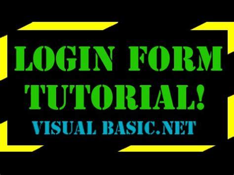 youtube tutorial vb net visual basic login form tutorial youtube