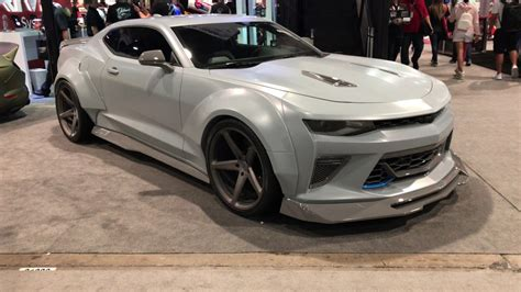widebody camaro sema 2016 widebody chevrolet camaro ss walkaround 4k