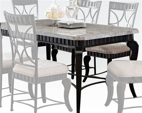 acme dining table w white marble top lorencia ac70294