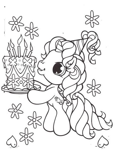 my little pony birthday party coloring pages small birthday cake coloring page image inspiration of