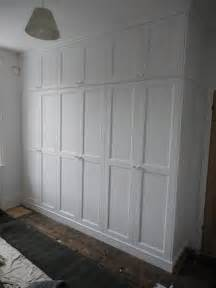Bespoke Bookcase White Spray Painted Wardrobe Floor To Ceiling 171 The Sussex