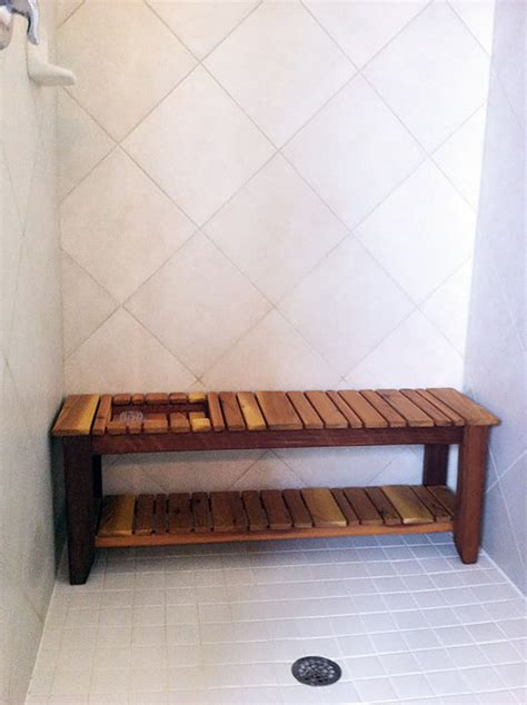 cedar shower bench cedar shower bench pictures to pin on pinterest pinsdaddy