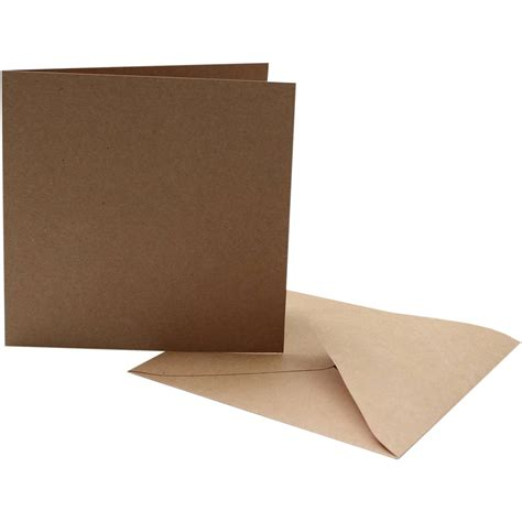 kraft card blanks and envelopes 6 x 6 inches 10 pack