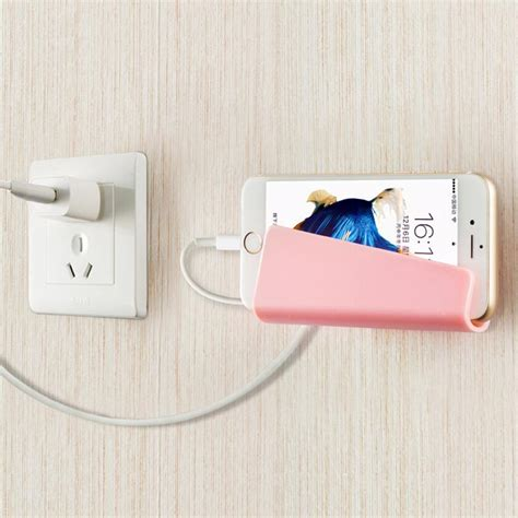 creative foldable wall charger adapter mobile cell phone mp3 charging charger holder stand
