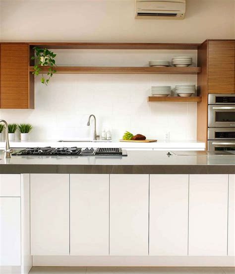 white wood trendiest combination kitchen design