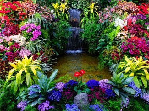 wonderful gardens wonderful garden waterfalls nature background