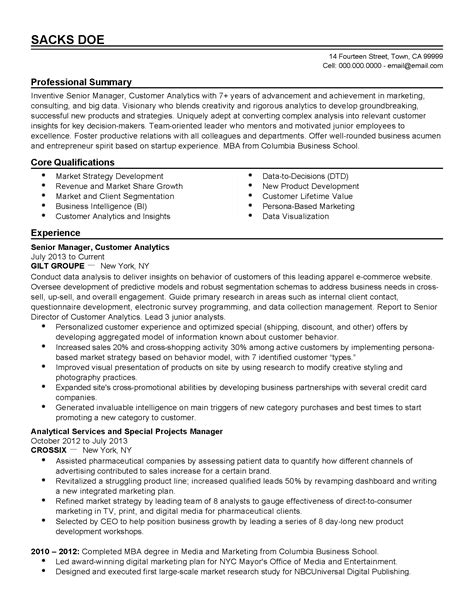 achievement oriented resume 10000 cv and resume sles with free 4 mba