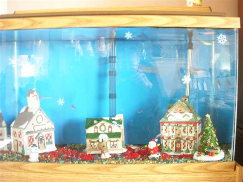 diy fish tank christmas decor petdiys com